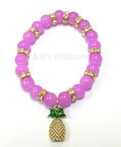 Pineapple Beaded Bracelet #Handmade #Bangle
