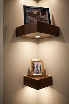 Miraculous Useful Ideas: Floating Shelves Bathroom Drawers floating shelves decoration laundry rooms.Staggered Floating Shelves Above Tv black floating shelves mirror.Floating Shelves With Pictures Toilets. Home Decor Accessories, Decorative Accessories, Diy Corner Shelf, Corner Wall Decor, Corner Shelves Bedroom, Wall Nook, Corner Mirror, Bedroom Wall, Diy Bedroom