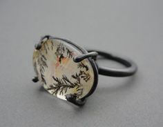 Dendrite Ring :: This is my sister in-law's work.  She's a stunning artist!  Visit her shop at: https://www.etsy.com/shop/JennyTreiber?ref=shop_sugg