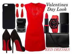 """valentines day look"" by j-n-a ❤ liked on Polyvore featuring NARS Cosmetics, Christopher Kane, Crayo, Christian Louboutin, Rick Owens, Amrita Singh, Lancôme, Yves Saint Laurent, women's clothing and women"