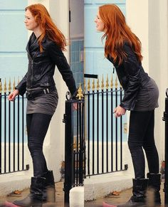Karen Gillan - This looks like something I would wear as opposed to things I see on here that I wish I would wear. Karen Gillen, Karen Sheila Gillan, Pretty Redhead, Rory Williams, Celebs, Celebrities, The Girl Who, Scandal, Redheads