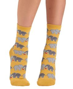 Elephant Love socks from Cute Dose are the cutest elephant socks you can wear on your feet!