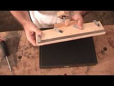 Woodworking Planer Jointer Knife Sharpening Jig - YouTube