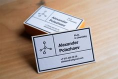 Cool Business Card for Chemist