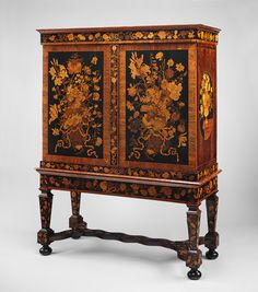 Cabinet on stand, ca. 1700–1710 Attributed to Jan van Mekeren (Dutch, 1658–1733) Dutch; Amsterdam Oak veneered with kingwood, tulipwood, rosewood, ebony, olive wood, holly, and other marquetry woods H. 70 1/4 in. (178.5 cm) Ruth and Victoria Blumka Fund, 1995 (1995.371) ON VIEW: GALLERY 551 Last Updated February 8, 2013 Metropolitan Museum of Art