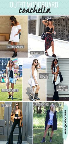 COACHELLA OUTFIT INSPIRATION: THE MOODBOARD TO INSPIRE YOUR FESTIVAL STYLE
