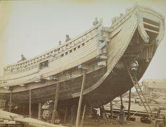Dockyard, Gelatin silver prints, hand-tinted, albumexpan
