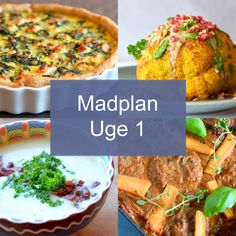 Madplan uge 1 - Maria Silje | Mad blog Caprese Salat, Feta Salat, Avocado Salat, Mango Salat, Diet Recipes, Healthy Recipes, One Pot Pasta, Iftar, Chana Masala