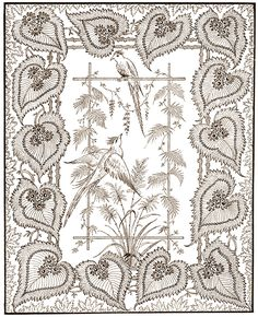 """Photo from album узоров"""" on Yandex. Bird Coloring Pages, Adult Coloring Pages, Embroidery Motifs, A4 Paper, Botanical Drawings, Book Images, Floral Illustrations, Leaf Shapes, Art Deco Design"""