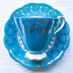 Beautifully Bold Mid Century Turquoise Royal by TheBelovedTeacup