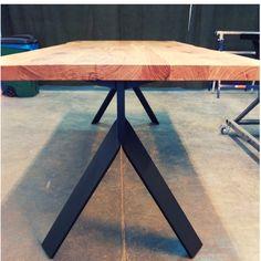 Stół industrialny - model Ksamil. Drafting Desk, Dining Table, Furniture, Home Decor, Decoration Home, Writing Desk, Room Decor, Dinner Table, Home Furnishings