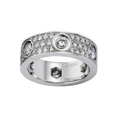 LOVE ring - White gold, diamonds - Fine Wedding Bands for women - Cartier