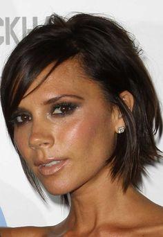 Coiffure Victoria Beckham - cheveux  carré effilé - coupe courte dégradée