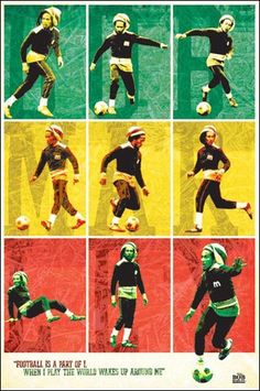 Bob Marley Soccer Squares Poster www.trippystore.com/bob_marley_soccer_squares_poster.html
