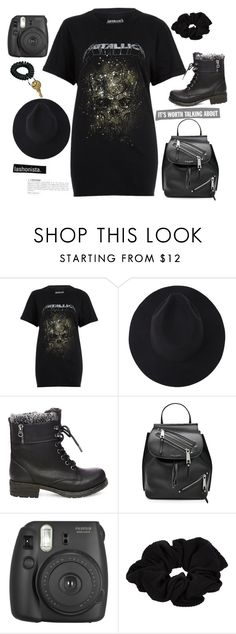 """Heavy Metallica"" by dollz-n-donz ❤ liked on Polyvore featuring River Island, Steve Madden, Marc Jacobs and Fujifilm"