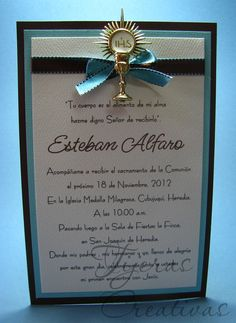 Tijeras Creativas: Primera Comunión Varón Boys First Communion, First Communion Invitations, Holi, Stationery, Letters, Frame, Creative, Projects, Invitation Ideas