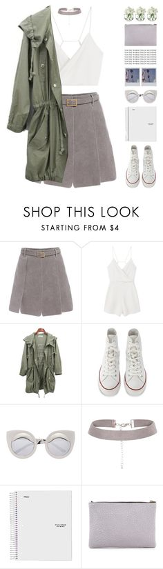 """Crystalfilm - Little Dragon"" by chelseapetrillo ❤ liked on Polyvore featuring MANGO, Converse, Oliveve, LSA International and melsunicorns"