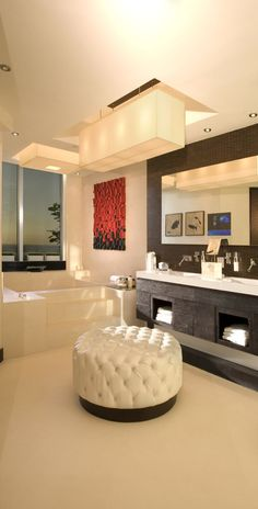 ♂ Luxury home modern bathroom Britto Charette Miami Penthouse