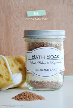 DIY Cocoa Bath Soak  Read more - http://www.stylemepretty.com/living/2014/03/26/diy-cocoa-bath-soak/