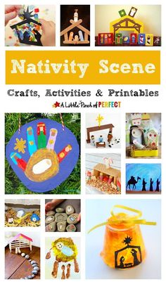 My Favorite Nativity Scene Crafts, Activities and Printables for Christmas ( Christmas Traditions Kids, Christmas Activities For Toddlers, Preschool Christmas, Toddler Christmas, Christmas Crafts For Kids, Christmas Printables, Christmas Parties, Christmas Games, Jesus Crafts