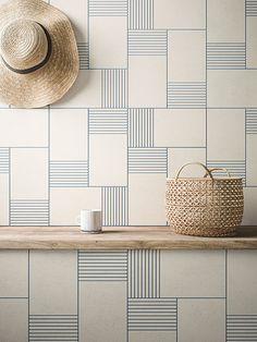 Beautiful graphic wall - Cava Graphic Tile Collection by LucidiPevere for Living Ceramics - Design Milk Decor Interior Design, Interior Decorating, Keramik Design, Farmhouse Side Table, Wall And Floor Tiles, Wall Tiles, Tile Design, Modern Bathroom, Design Bathroom