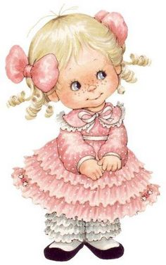 Miss Ruffles ~ Ruth Morehead Vintage Clipart, Vintage Cards, Vintage Images, Cute Little Girls, Cute Kids, Cute Images, Cute Pictures, Holly Hobbie, Precious Moments