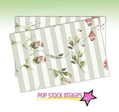 Digital Collage Sheet Printable Envelope - Shabby Chic Cottage Roses Envelope - Pink Green Roses Printable Envelope - 4x6 Envelope Printable