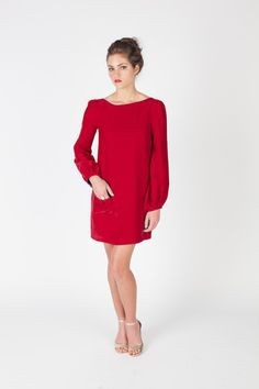 Meg Dress in Cranberry- Annie Griffin Holiday '13