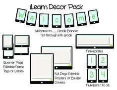 ILEARN TECHNOLOGY THEMED DECOR PACK - TeachersPayTeachers.com