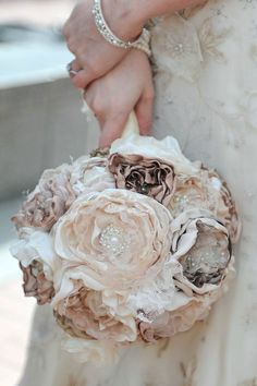 Beautiful bouquet for bridesmaids! The combination of it all!! ....20 Unique DIY Wedding Bouquet Ideas – Part 1 | http://www.deerpearlflowers.com/unique-diy-wedding-bouquet-ideas/