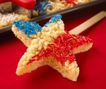 Fourth of July Rice crispy treats for the kiddos
