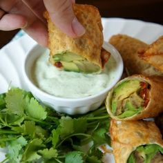 Avocado Egg Rolls (bake instead of frying)