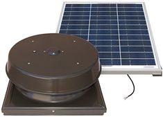 Natural Light 60-Watt Curb Mount Solar Attic Fan - Bronze >>> Be sure to check out this awesome product. (This is an affiliate link) #TeslaSolarRoofIdeas