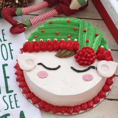 Inspiring Buttercream Decorated Christmas Cakes with regard to Elf Buttercream Cake Christmas Themed Cake, Christmas Cake Designs, Christmas Deserts, Christmas Cake Decorations, Christmas Cupcakes, Holiday Cakes, Christmas Baking, Christmas Post, Merry Christmas
