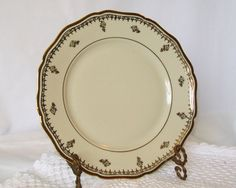 Johann Haviland Bavaria China Plate Ivory with by pinkpainter