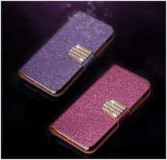 Luxury Glitter Diamond PU Wallet Leather Case For  HTC Desire 400 T528w Cover For HTC ONE SU Flip Buckle Stand Card Holder