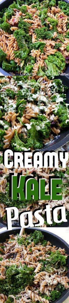 This creamy kale pasta is a delicious and #healthy meal without any cream or butter that will be sure to please the whole family! #GlutenFree + #Vegan - Ceara's Kitchen