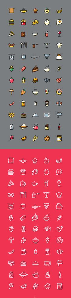 A beautiful collection of 120 food icons, in 2 styles. Designed by Yuliia Shchetinina. Line Illustration, Graphic Design Illustration, Icon Design, Logo Design, Vegan Tattoo, Whatsapp Wallpaper, Doodle Icon, Animated Icons, Food Icons