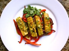 Citrus-Marinated Tofu with Onions and Peppers Recipe on Yummly