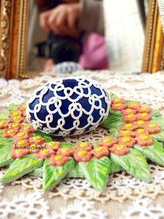 Koroneczka - frywolitki i ceramika: Pisanki frywolitkowe i jaja z gipsu - tutorial