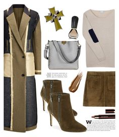 """Leather, Wool and Cashmere'"" by dianefantasy ❤ liked on Polyvore featuring Joseph, Orwell + Austen, Burberry, Via Spiga, Valentino, UNIQUENESS, Hourglass Cosmetics, Oribe, polyvorecommunity and polyvoreeditorial"