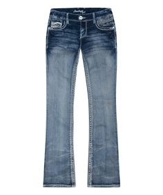 Loving this Blue Stone Wash Addison Bootcut Jeans - Plus on #zulily! #zulilyfinds