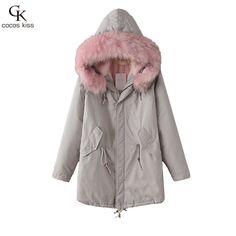 Winter Jacket Women 2016 Dół Parka Plus Size Bawełny Wyściełane Płaszcz Z Kapturem Futra Znosić Rękawem Płaszcz Zimowy Kobiety