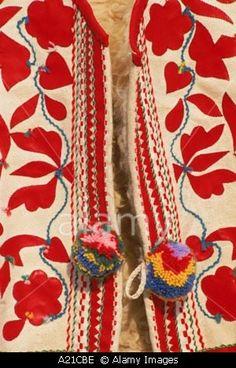 Close up of traditional Slovak folk embroidery on a waistcoat at Kezmarok Slovakia J Strachan Folk Embroidery, Embroidery Patterns, Russian Folk Art, Textiles, Folk Costume, Traditional Outfits, Textile Art, Flower Patterns, Bratislava