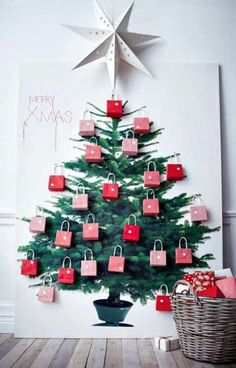 This would make a great advent calendar if we had the space.  Seal the bags to prevent peeking!