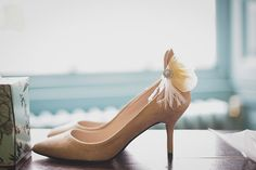 Vintage wedding shoes | Read more on http://onefabday.com/bradbourne-house-by-jess-petrie/