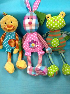 Patchwork bunny, duck, and frog