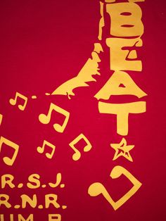 Sir Coxson Downbeat The Ruler t shirt DETAIL (RED L/Sleeve)