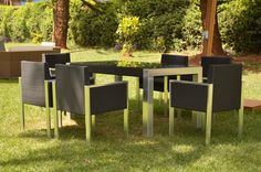 Hoping that our lunch will be a sunny one with our VITENDI LTD Panama Dining Set.