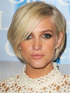 Get Ashlee Simpson's amazing graduated bob by asking your stylist to texturize the cut a bit